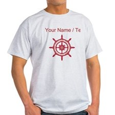 Custom Red Ship Wheel T-Shirt