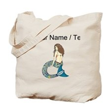Custom Brunette Mermaid Tote Bag