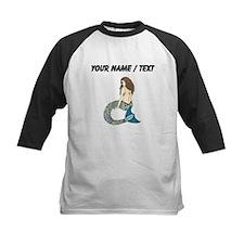 Custom Brunette Mermaid Baseball Jersey