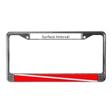 Surface Interval License Plate Frame