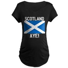 Scotland Aye Dark Maternity T-Shirt