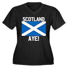 Scotland Aye Dark Plus Size T-Shirt