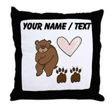 Custom Bear Love Throw Pillow