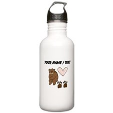 Custom Bear Love Water Bottle