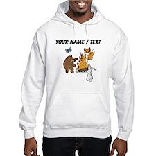 Custom Camp Fire Animals Hoodie