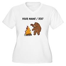 Custom Camp Fire Bear Plus Size T-Shirt