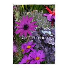 Purple Flowers to Customize 5'x7'Area Rug