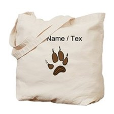 Custom Bear Claw Tote Bag