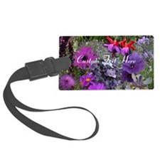 Purple Flowers to Customize Luggage Tag