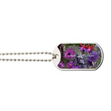 Purple Flowers to Customize Dog Tags