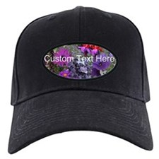 Purple Flowers to Customize Baseball Hat