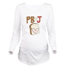 PB and J Sandwich Heart Long Sleeve Maternity T-Sh