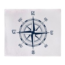 Blue Compass Throw Blanket