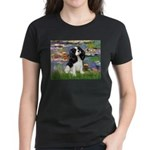Lilies and Tri Cavalier Women's Dark T-Shirt