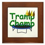 Trampoline Champ Framed Tile Trophy