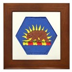 California Military Reserve Framed Tile