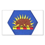 California Military Reserve Rectangle Sticker