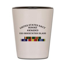 USS Observation Island Shot Glass