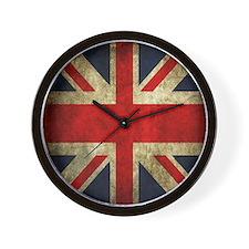 Grunge Uk Flag Wall Clock