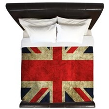 Grunge Uk Flag King Duvet