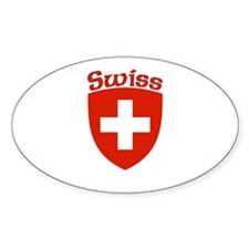 Swiss Coat of Arms Oval Decal