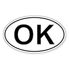 Ok - Oklahoma Oval Car Decal