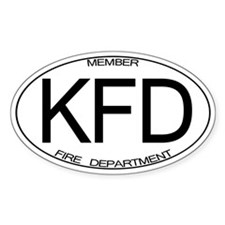KFD Oval Decal