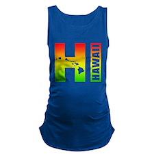 HI - Hawaii Rasta Surfer Colors Maternity Tank Top