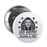 Vote 2004 B&W Button