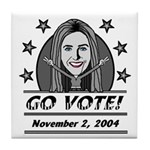 Vote 2004 B&W Tile Coaster