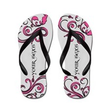 Personalized Pink Whimsy Goth Flip Flops