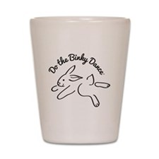 DO THE BINKY DANCE in black Shot Glass