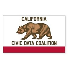 California Civic Data Coalition (Flag Sticker) Sti