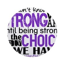 Pancreatic Cancer HowStrongWeAre Ornament (Round)