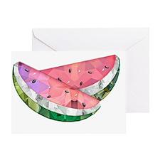 Polygon Mosaic Watermelon Slices Greeting Card