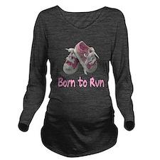 Cute Run Long Sleeve Maternity T-Shirt