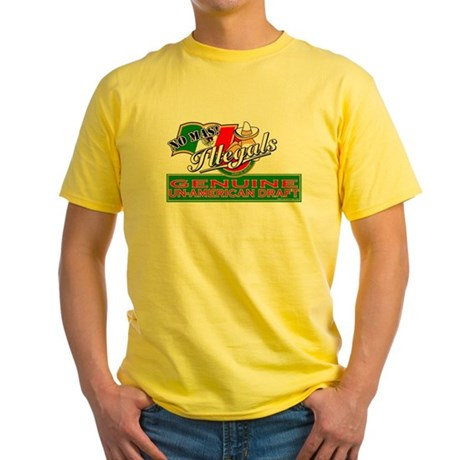 Illegals: Un-American Draft Yellow T-Shirt
