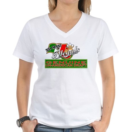 Illegals: Un-American Draft Women's V-Neck T-Shirt