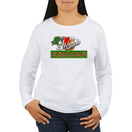 Illegals: Un-American Draft Women's Long Sleeve T-