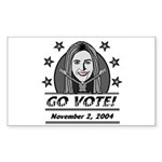 Vote 2004 B&W H-Rectangle Sticker