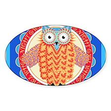 Cute Colorful Owl Cartoon Decal