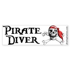 Pirate Diver Bumper Bumper Sticker