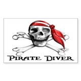 Pirate Diver Rectangle Decal