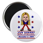 Vote 2004 Color Magnet
