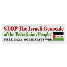 Zionist Genocide - Bumper Sticker