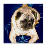 Pug Tile Coaster