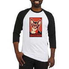 Cute Abyssinian cat Baseball Jersey