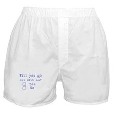 Will you go out with me? Boxer Shorts