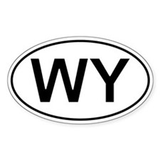 Wy - Wyoming Oval Car Decal