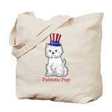 Patriotic Westie Tote Bag